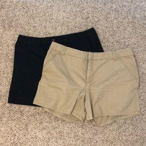 Merona Shorts, Black and Khaki
